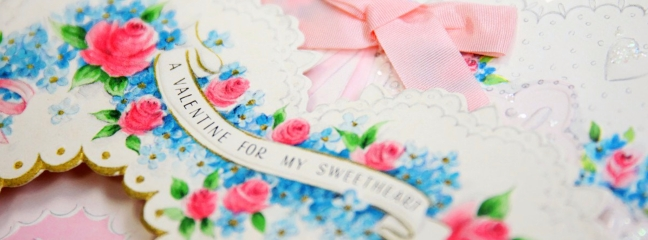 valentine card closeup